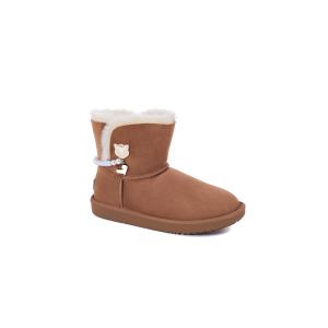 UGG DK046 秋冬新款 诺拉珍珠项链雪地靴 (栗色 46号)