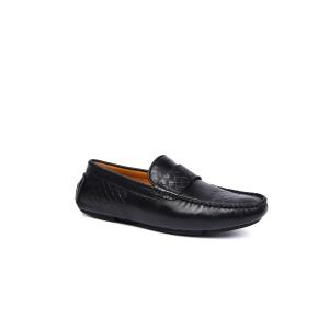 UGG DK718 春夏新款 格纹男士皮鞋 男鞋黑色