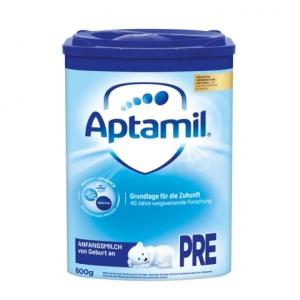 Aptamil 爱他美新版本pre段婴儿奶粉 0-3个月 800g 8盒