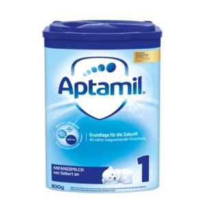 Aptamil 爱他美新版本1段婴儿奶粉 0-6个月 800g 8盒