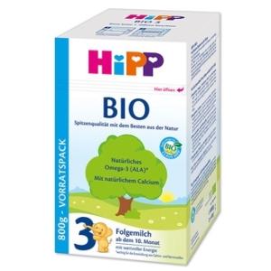 HiPP 喜宝纯有机3段婴儿奶粉 10-12个月 800g 3盒