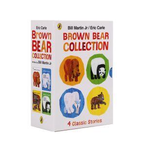 【0-4岁】点读版《棕色的熊》系列全4册 英语启蒙必备绘本 艾瑞·卡尔代表作 奥巴马、希拉里都为它打call 默认规格