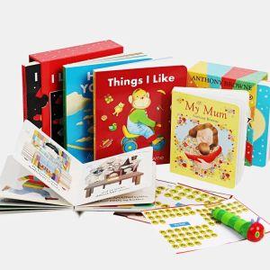 【2-6岁】《安东尼·布朗情绪管理系列》贴纸点读纸板书6册 亲子家庭书籍 宝宝英文启蒙读物 贴纸点读版安东尼布朗我的家人套装