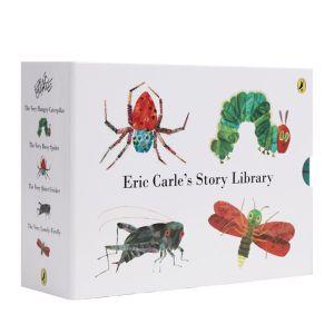 【2-8岁】《艾瑞·卡尔昆虫系列》4册 点读版 英文原版 好饿的毛毛虫 早教启蒙认知 自然科普 大师经典 点读版好饿的毛毛虫套装