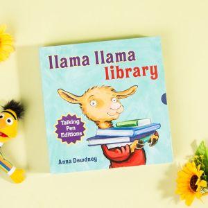【3-8岁】《羊驼拉玛图书馆系列》英文点读版8册 幼儿情绪管理绘本 亲子家庭教育 韵文故事 英语启蒙 羊驼拉玛套装