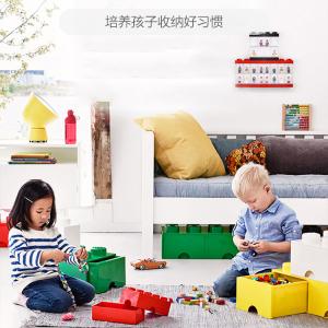 【4粒/8粒】乐高Room系列收纳盒 能收纳能玩耍 一物多用 培养孩子的收纳好习惯 8颗粒积木款亮黄柠色